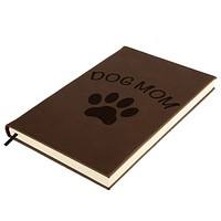 Mother's Day Dog Mom Brown Leatherette Journal