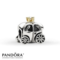 Pandora Charm Cultured Pearl & 14K Gold Sterling Silver