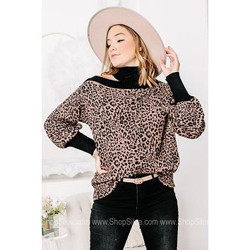 Taking Names Detailed Turtle Neck Sweater Top
