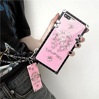 Chrome hearts Tide brand creative pendant iPhone XS Max mobile phone shell couple models Pink
