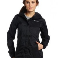 Columbia Women's Arcadia Rain Jacket, Black, Large