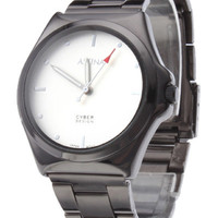 Concise Metal Stainless Steel Strap Round Shape Wrist Watch