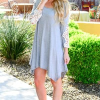 ALWAYS ON MY MIND DRESS IN GREY