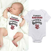 ( Im going to Hogwarts ) Funny Baby Onesuit.