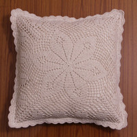 HANDMADE CROCHET Cushion Cover, Pillow case, Decorative Throw Pillow, Home Decor - White and Natural Color, Galaxy Design Series