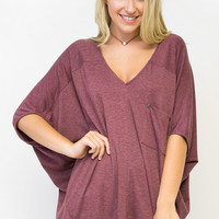 Sexy Slouch V-Neck Top
