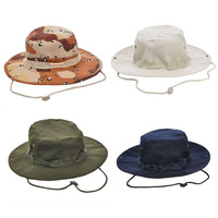 Unisex Military Bucket Hat Boonie Hiking Hunting Fishing Outdoor Cap Washed Cotton NEW = 1705758916