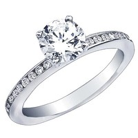 "Ben Garelick Royal Celebration ""Alice"" Channel Set Diamond Engagement Ring"