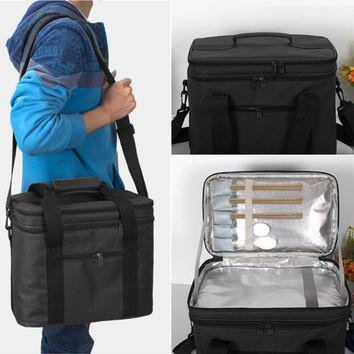 Thermal Picnic Bag Cooler Camping Lunch Basket Container Tote Hand Bags Portable