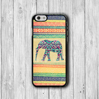 Aztec Elephant Color Drawing iPhone 6 Cases, Big Wild Animal iPhone 6 Plus, iPhone 5S Cover, iPhone 4S Boss Gift Accessories Pocket Deco