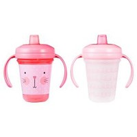 The First Years Stackable Soft Spout 7oz Trainer Cup 2 pk - Pink