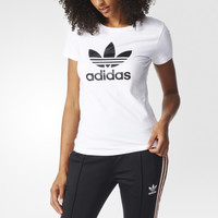 """Adidas"" Women Simple Casual Clover Letter Print Short Sleeve T-shirt"