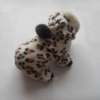 Pet Dog  Warm Hoodie Clothes Coat Hooded  Leopard Jumpsuit Pants M size ready to  ship