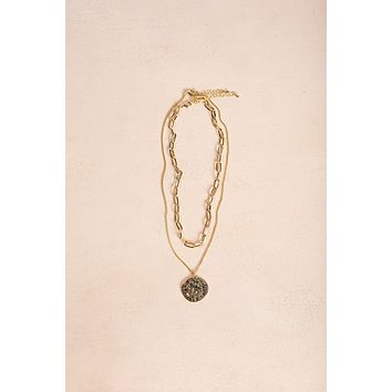 Bella Gold Layered Coin Necklace