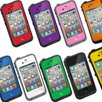 Shockproof Waterproof Snow life Dirt Proof Protective Case Cover for iphone 4 4S