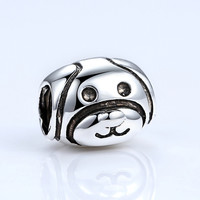 Lovely Dog Pattern European Animal Charm Beads DIY Accessories
