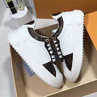 LV Louis Vuitton new product stitching color letters ladies sneakers casual shoes