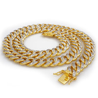 18k Gold Iced Out Cuban Chain Miami