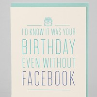 Moglea I'd Know It Was Your Birthday Card - Urban Outfitters
