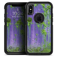 Purple Metal with Lime Green Rust - Skin Kit for the iPhone OtterBox Cases
