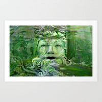 The green man Art Print by Valerie Anne Kelly