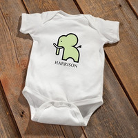 Personalized Baby Onesuit - Elephant Design