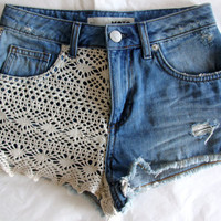 Unique/ Crochet vintage shorts by TakeItHigh on Etsy