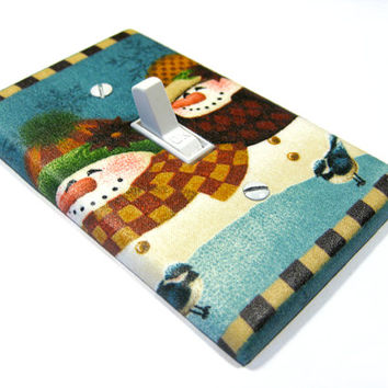 Snowman Couple Holiday Decor Christmas Decoration Light Switch Cover Switchplate Switch Plate Snowmen  198