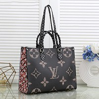 Louis Vuitton LV hot style lv printing ladies large-capacity trendy all-match shopping bag