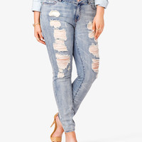 Edgy Destroyed Skinny Jeans