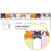 Tiny Kawaii Kitty Cat Shaped Animal Themed Sticky Post-it Memo Bookmark Tabs