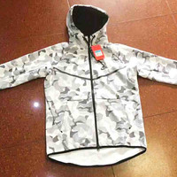 Nike Fashion Hooded Zipper Sweatshirt Jacket Coat Windbreaker Sportswear B-A-BM-YSHY