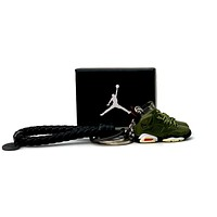 3D Sneaker Keychain- Air Jordan 6 Travis Scott Pair