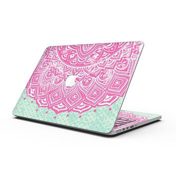 Green and Pink Tribal v3 - MacBook Pro with Retina Display Full-Coverage Skin Kit