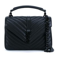 SAINT LAURENT   Quilted Leather Monogramme Shoulder Bag   brownsfashion.com   The Finest Edit of Luxury Fashion   Clothes, Shoes, Bags and Accessories for Men & Women