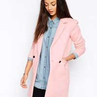 Only Sammi Double Breasted Coat With Pocket Detail