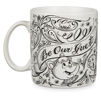 disney parks be our guest chip mrs potts chalkboard ceramic coffee mug cup new