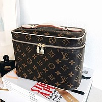 LV Louis Vuitton Classic Fashion Women Leather Cosmetic Bag Tote Crossbody Satchel Shoulder Bag