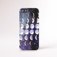 iPhone 6 Moon Phases Case Moon Phases iPhone 6 Plus Case, Stars and Moon iPhone Case Moon iPhone 5 case Fashion Galaxy iPhone 5 Case Boho
