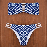 [SUMMER CLEARANCE] sexy women padded strapless bikini set bikini brazilian swimwear swimsuit bathing suit = 1956989764