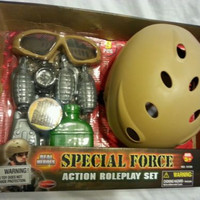 Boys 9-Piece Toy Action Set Special Forces Combat Roleplay Ages 5+ Kids Pretend