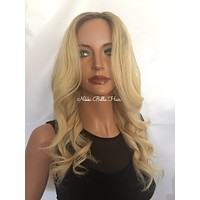 Light Ombré Blond Remy Human Hair Full Lace Wig - Charlotte