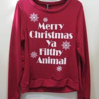 Filthy Animal Sweatshirt Red