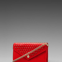 Rebecca Minkoff Chain Wallet with Studs in Fire Engine from REVOLVEclothing.com