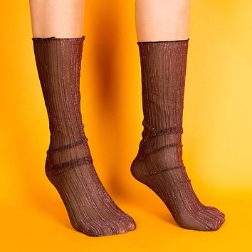 Mona Sheer Sock | Purple