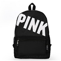 Victoria Pink Fashion New Letter Print Women Men Leisure Backpack Bag