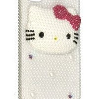 Hello Kitty 3d Handmade Swarovski Crystal Iphone 4 case/cover by Jersey Bling