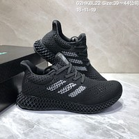 HCXX Adidas Futurecraft 4D Print Breathable Comfortble Running Shoes Black