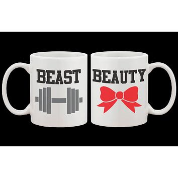 Beauty and Beast Matching Coffee Mugs -His and Hers Couple Coffee Mug Cup