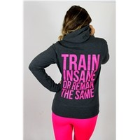 Train Insane Classic Grey Hoodie | oGorgeous Gym Boutique